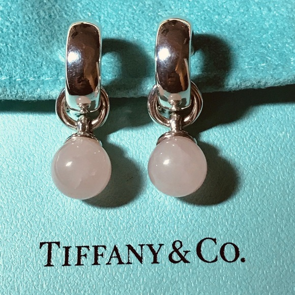 Tiffany & Co. Pink Ball Dangling Clip on Earrings